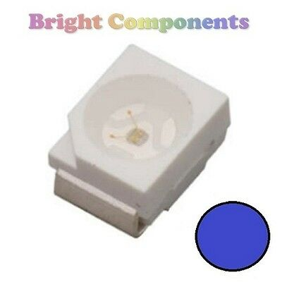 10 x Blue PLCC-2 LED (SMD SMT 3528/1210) - Ultra Bright - UK - 1st CLASS POST