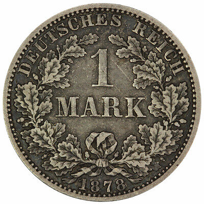 Germany 1878 A Silver Mark Coin gEF