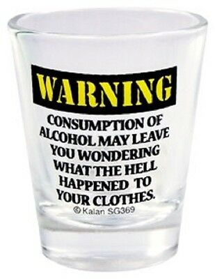WARNING: CONSUMPTION MAY LEAVE YOU WONDERING WHAT HAPPENED Shot Glass NEW (#369)