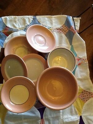 VINTAGE RESTAURANT WARE-BUFFALO CHINA-ROUGE WARE-8 ASSORTED PIECES
