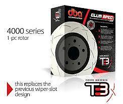 DBA T3 Rear Slotted Rotors x 2 Mitsubishi EVO X EVOLUTION 330mm Brembo DBA42225S