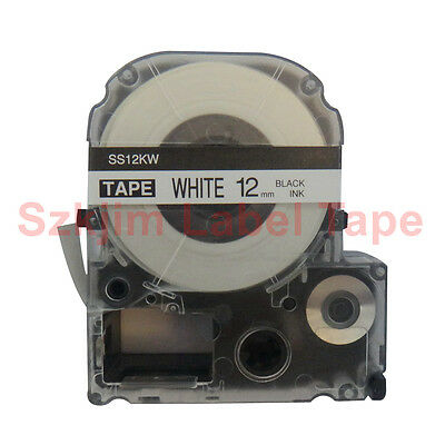 Compatible  EPSON1 LC-4WBN  Label Tape  Black on white 12mm 8m  LW400 LW300 LW70