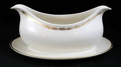 Franciscan ARCADIA GOLD Gravy Boat with Attached Underplate GREAT CONDITION