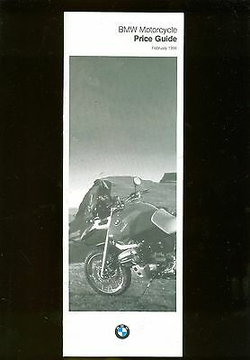 1994 (February) Bmw Motorcycle Price Leaflet