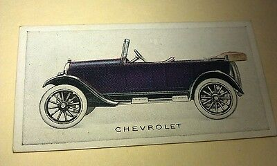 1923 CHEVROLET  Orig Wills Cigarette Card New Zealand