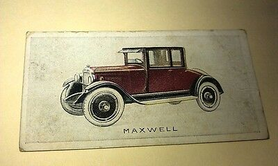 1923 MAXWELL  Orig Wills Cigarette Card New Zealand