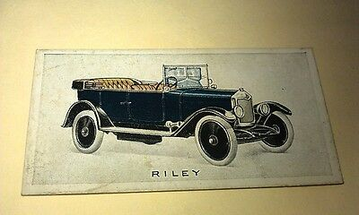 1923 RILEY  Orig Wills Cigarette Card New Zealand
