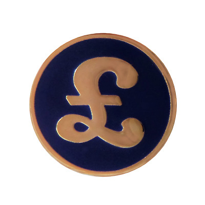 £ Pound Sterling Pin Badge - T876