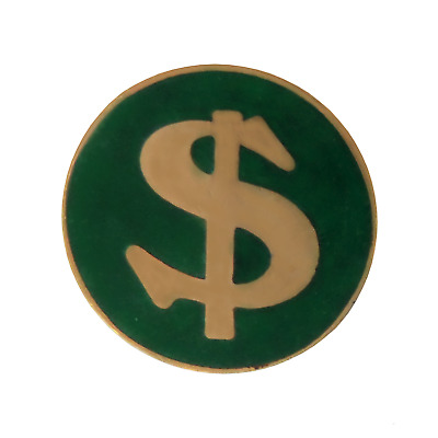 $ US Dollar Pin Badge - T877