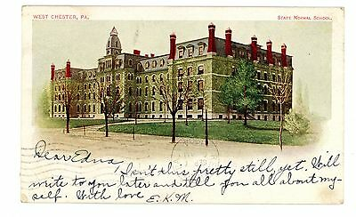 West Chester PA-STATE NORMAL SCHOOL-Private Mailing Card PMC Postcard