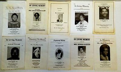 10 Arkansas '80's - early'90's Black Americana memorial funeral booklets all dif