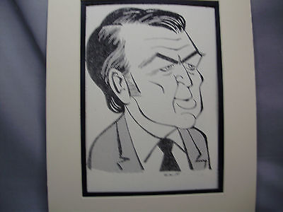 Jimmy Stewart Caricature Drawing from Studio 54 New York Famous Faces art