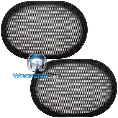 """(2) UNIVERSAL 6""""x9"""" SPEAKER COAXIAL COMPONENT PROTECTIVE GRILLS COVERS NEW PAIR"""