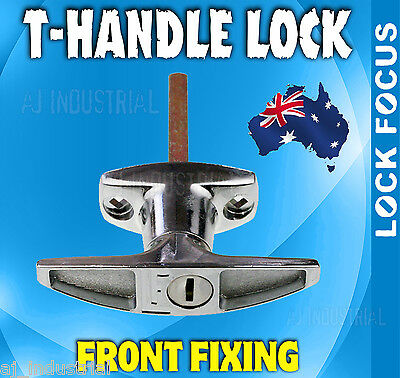 Lock Focus Lever Handle 07358014 Front Fix Door Gate Shed Bright Chrome KD