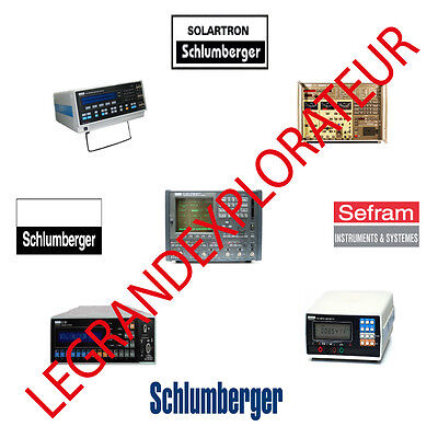 Ultimate Schlumberger & Solartron  Repair Service & Owner Manuals   DVD Manual s