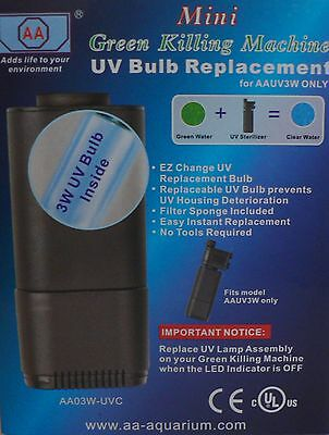 Aquarium Mini Uv Sterilizer Replacement Bulb Green Killing Machine Frf-If2Uvsb
