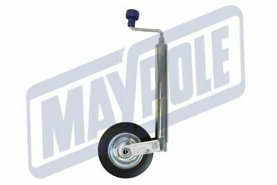 NEW MAYPOLE MP436 48mm CARAVAN Jockey Wheel and Clamp Med Duty Max Nose 150KG