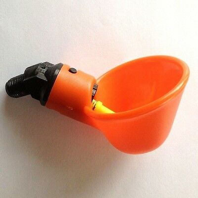 One Automatic Poultry Chicken Water Cup Drinker Drinking Plastic Cup System Bowl