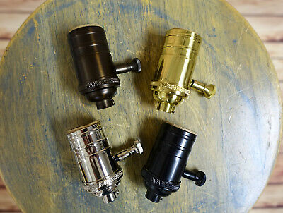 Solid Brass Dimmable Light Socket, Vintage Industrial Lamps, Full Range Dimmer