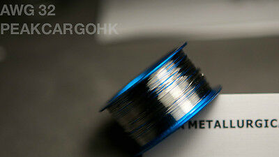 "Platinum Pt Metal Element Wire - Dia. 0.008"" (0.2mm) AWG gauge 32 - 99.95%"