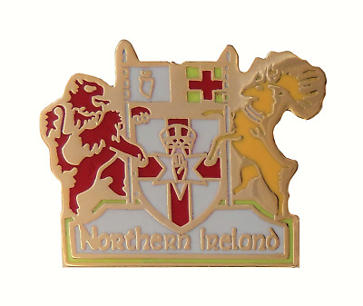Northern Ireland Flags Crest Pin Badge - T963