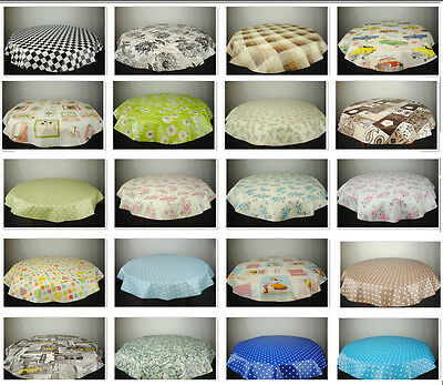 Round Wipe Clean Tablecloth - PVC oilcloth - Many Designs & Sizes