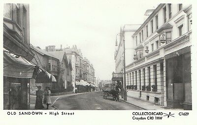 Isle of Wight Postcard - Old Sandown - High Street - Real Photograph   A5740