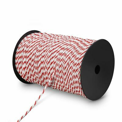 Polyrope 500m Roll Electric Fence Energiser Stainless Steel Poly Rope Insulator