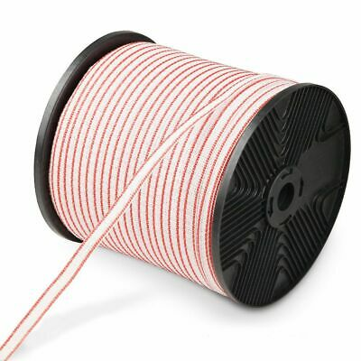 Giantz Polytape 400m Roll Electric Fence Energiser Stainless Steel Poly Tape