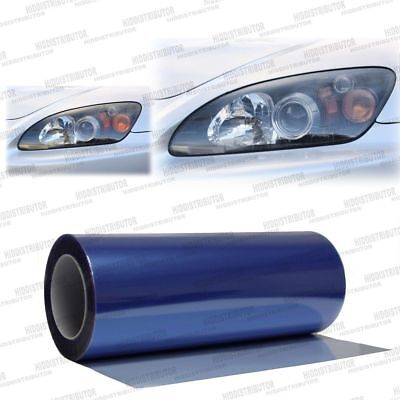 "Blue Light Headlight Taillight Fog Light Tint Vinyl Film Cover Wrap - 12"" x 36"""