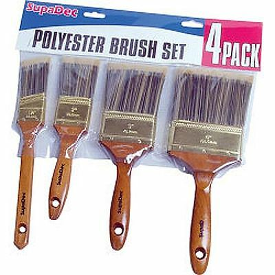 DIY Decorating Polyester Painting Paint Brush Pack Set of 4
