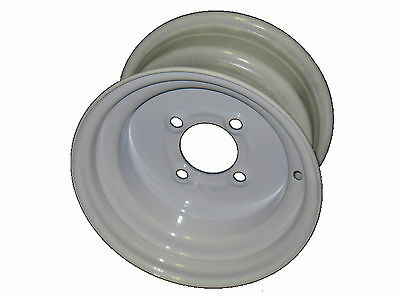 10x6 4 Lug White Steel Trailer Wheel for use with 20.5x8.0-10 or 205/65-10 tires
