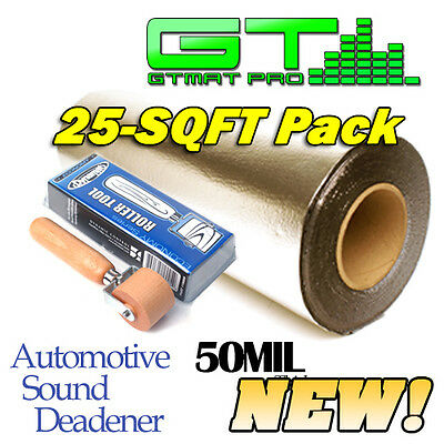 NEW Genuine Dynamat Roller & 25sqft GTmat Pro 50mil Automotive Sound Deadener