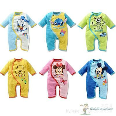 NWT Baby Boys Girls Disney Long Sleeves Romper One Piece Romper Size 00,0,1,2