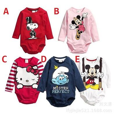 NWT Baby Boys Girls Disney Long Sleeves Top One Piece Romper Size 00,0,1,2