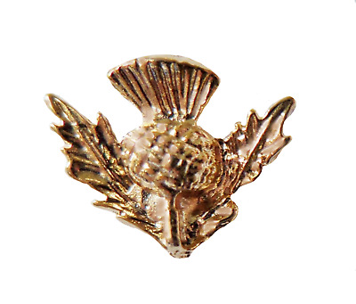 Scotland Thistle Small Gilt Pin Badge - T767