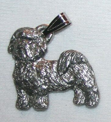 Shih Tzu Puppy Cut Dog Harris Fine Pewter Pendant USA Made