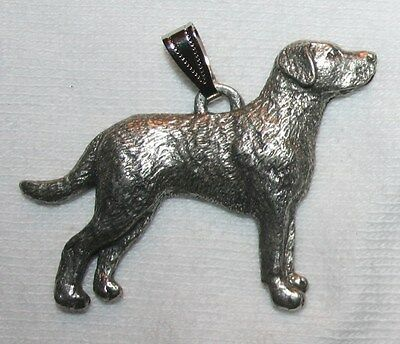 Chesapeake Bay Retriever Chessie Dog Harris Fine Pewter Pendant USA Made