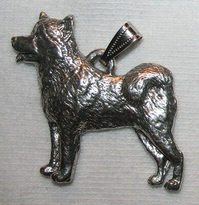 Alaskan Malamute Dog Harris Fine Pewter Pendant USA Made