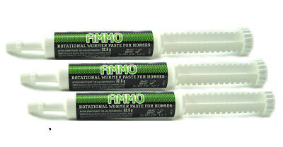 """Ammo Rotational Palatable Wormer Horse Pony stables gear 600kg x 3 """"ON SPECIAL"""""""
