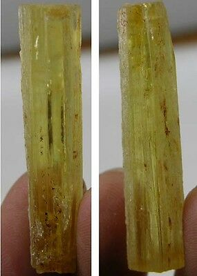 Cambodia Rough Uncut Raw Heliodor Crystal Specimen Stick 31.30Ct or 6.25g