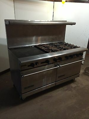 "60"" American Range Quality Cooking Restaurant 6 Burner Oven"