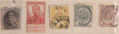 (EA26)1861-1960 Belgium mix of 16 stamps(including OW3)