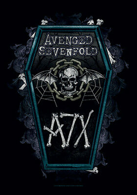 """AVENGED SEVENFOLD """"COFFIN """" Fabric Poster Oversized 30""""X40"""" Poster Flag NEW"""