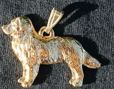 BERNESE MOUNTAIN DOG 24K Gold Plated Pewter Pendant Jewelry USA Made
