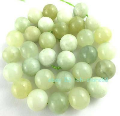 Beautiful! A 12mm New Jade Round Loose Beads 15''