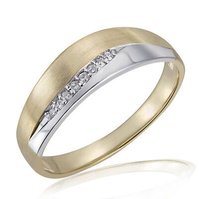 Goldmaid Ring Bicolor matt 585 Gelbgold 8 Diamanten SI/H 0,05 ct. Glamour