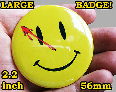 WATCHMEN FACE Badge Button Pin - LARGE 56mm/2.2inch size! - COOL!