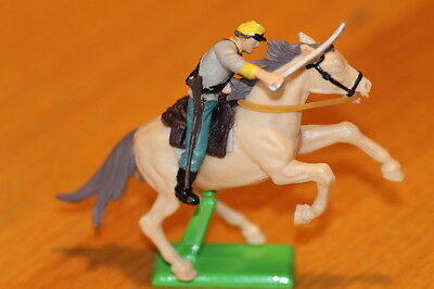 BRITAIN  TOY SOLDIERS 1970S  CAVALRY CONFED, PLASTIC METAL BASE  NEAR MINT