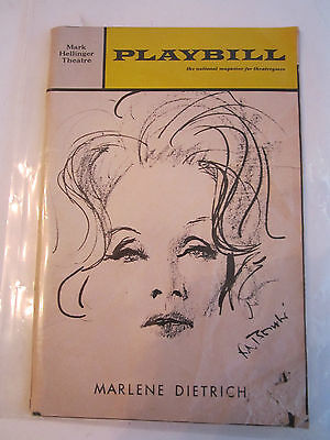 5 Vintage Playbill Theater Programs: Marlene Dietrich, Plaza Suite & More - Rh-6